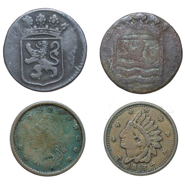 New York Tokens (1747 and 1767)