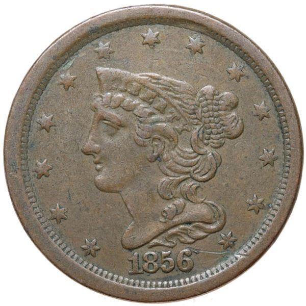 1856 Coronet Head 1/2c