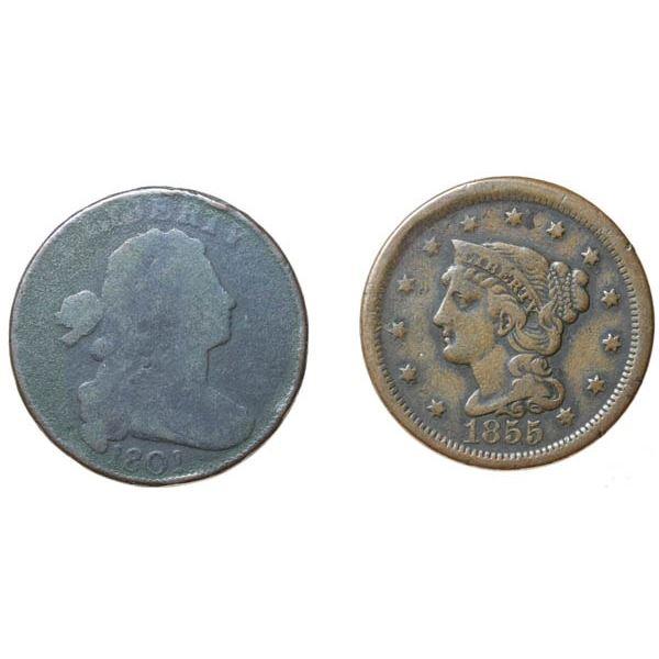 1801 Draped Bust 1c