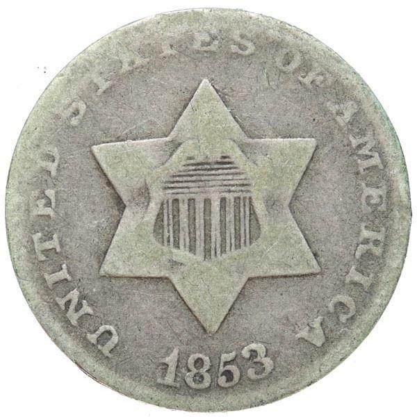 1853 Silver 3c