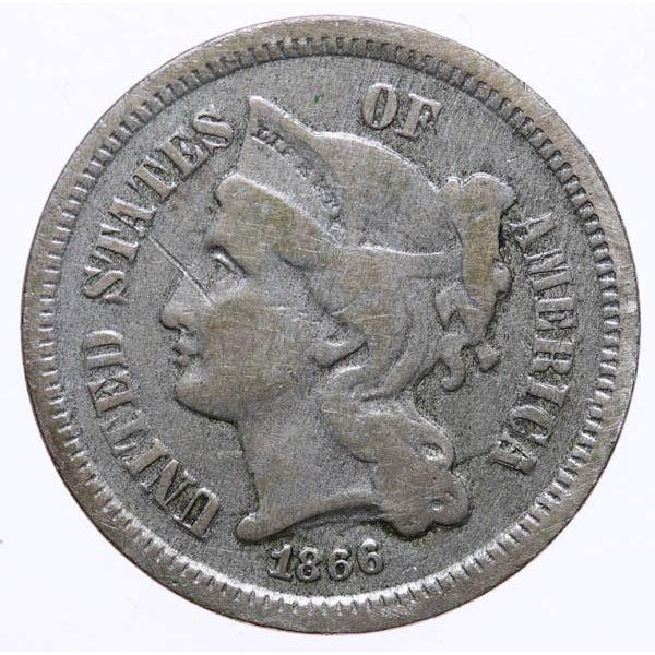 1866 Nickel 3c