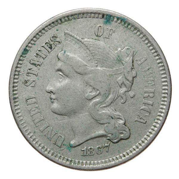 1867 Nickel 3c