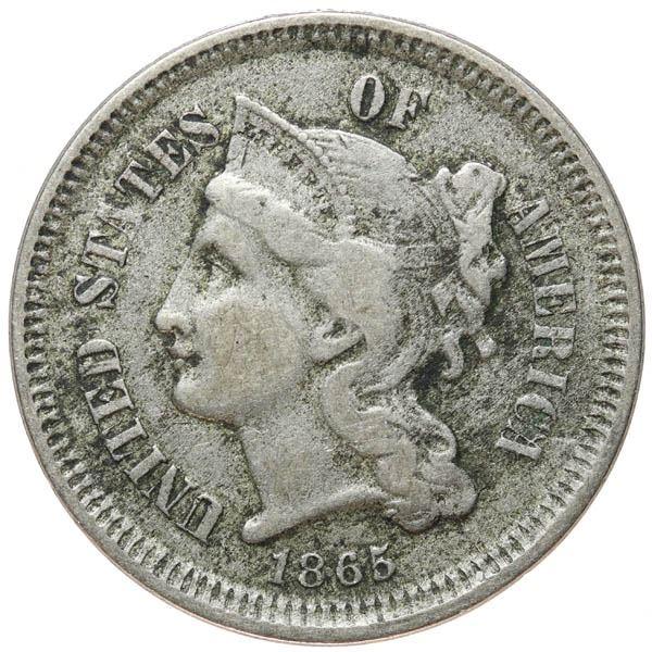 1865 Nickel 3c