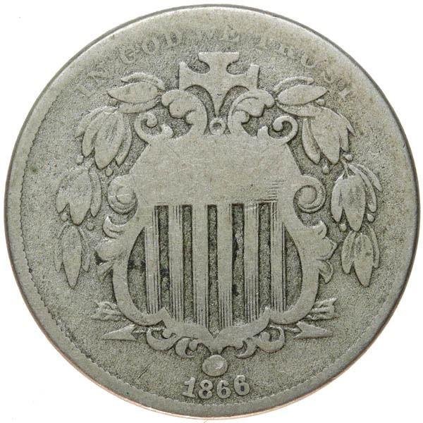 1866 Shield 5c