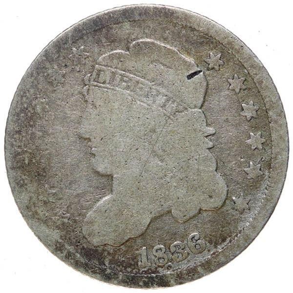 1836 Bust 10c. Sm 5c