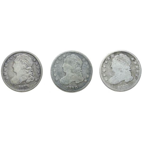 1830, 1832, 1833 Capped Bust Half Dimes