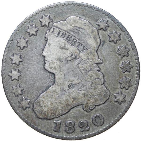 1820 Bust 25c. Lg 0