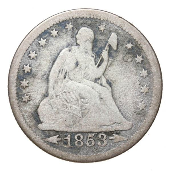 1853 Liberty Seated 25c. Arrows