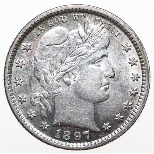 1897 Barber 25c CHOICE