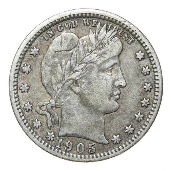 1905 Barber 25c