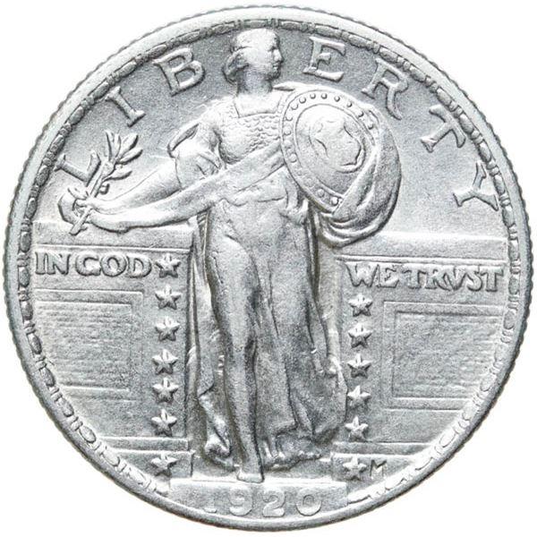 1920 Liberty Standing 25c