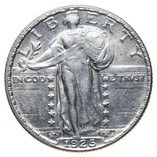 1926-S Liberty Standing 25c