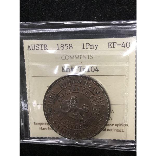 Australia Penny Token 1858