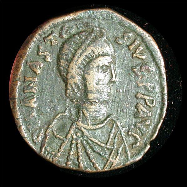 Byzantine Empire - Anastasius I, Bronze Follis (40 Nummi), 491-518 A.D.