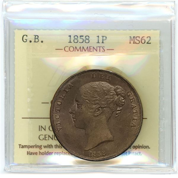 Great Britain Penny 1858
