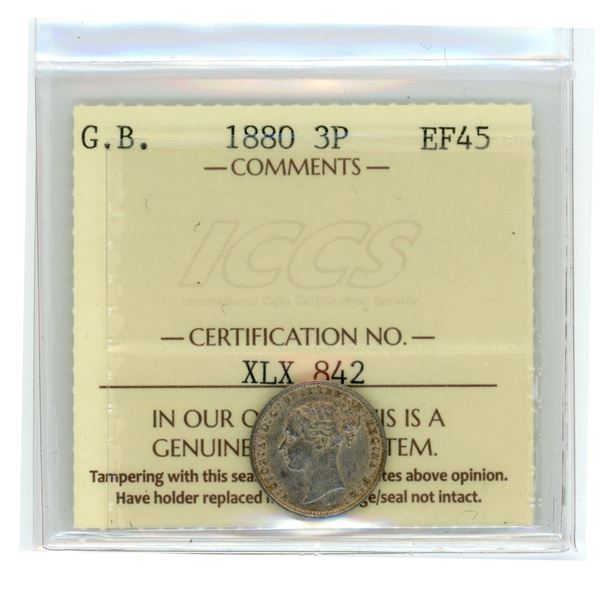 Great Britain Three Pence 1880