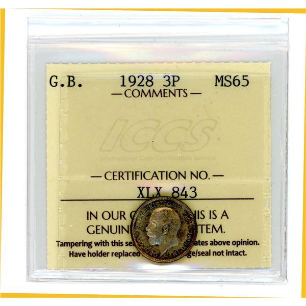 Great Britain Three Pence 1928