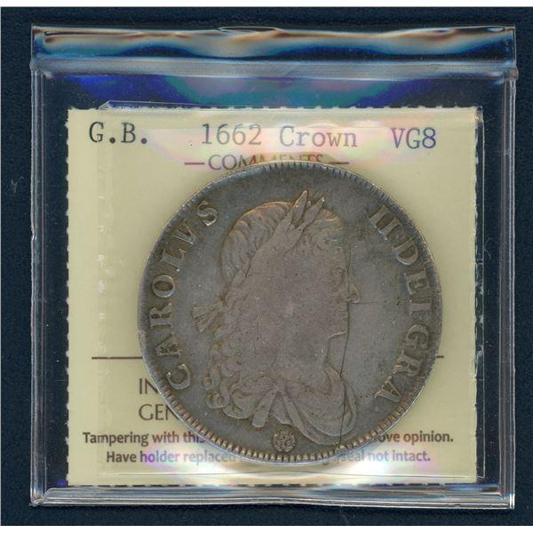 Great Britain Crown 1662 - Charles II