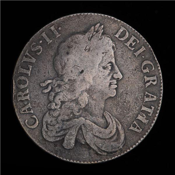 Great Britain Crown 1668 - Charles II