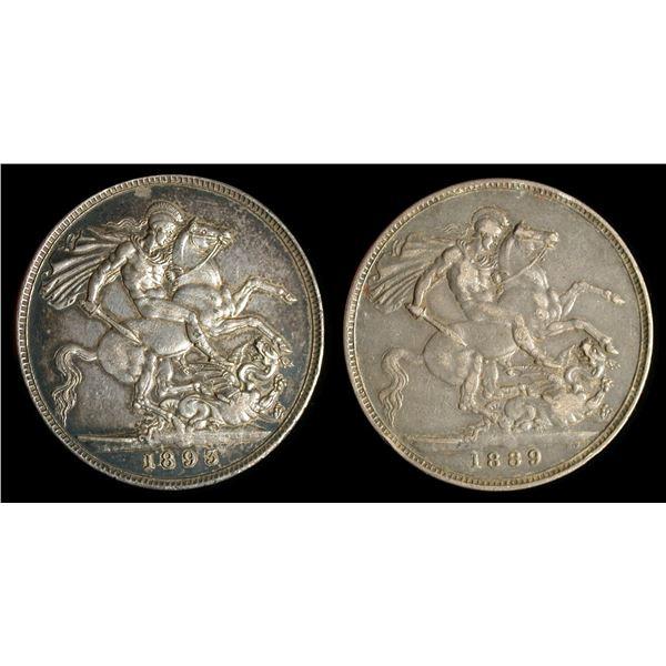 Great Britain Victorian Crown Pair