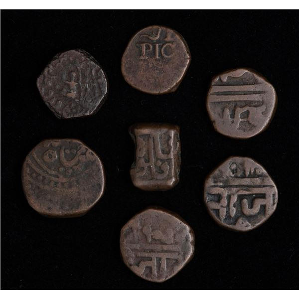India Princely States Lot of Copper Dump Coinage