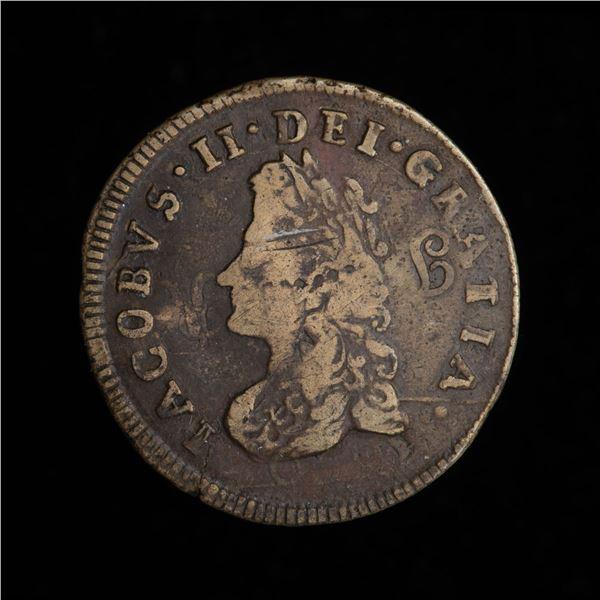 Ireland Limerick Half Penny 1691, James II