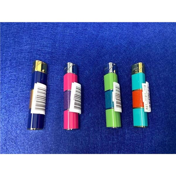 Lot Of 4 Colorful Lighters