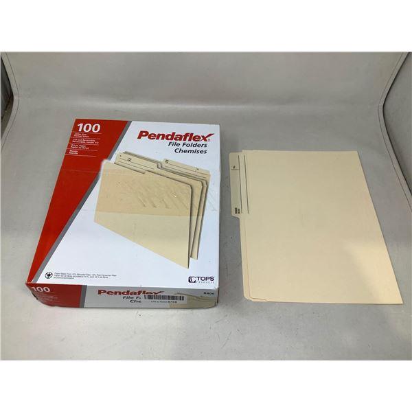 Pendaflex File Folders 100 Count