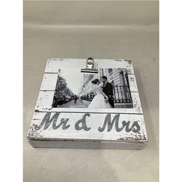 Mr & Mrs Photo Clip Board