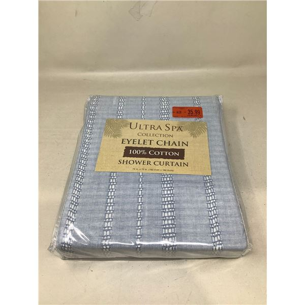 Ultra Spa Eyelet Chain Collection Shower Curtain