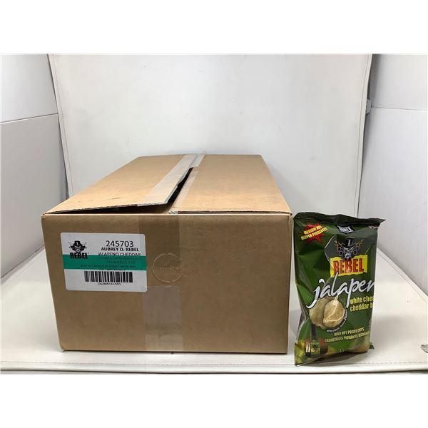 Rebel Jalapeno Cheddar Potato Chips (24 X 43G)