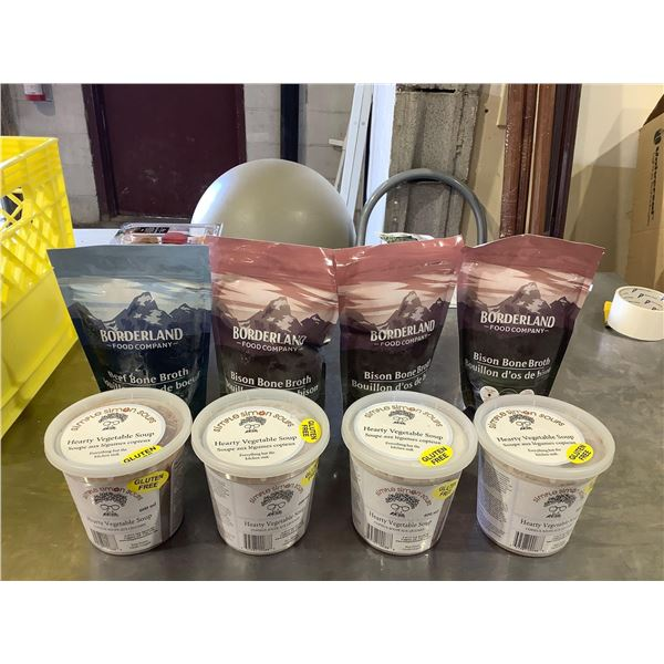 Frozen Vegetable Soup and Broth Lot of 8