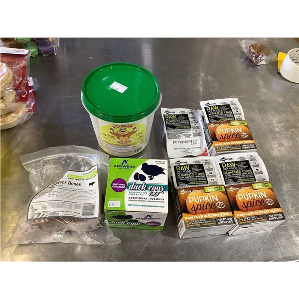 Frozen Assorted Dog Food Lot of 7