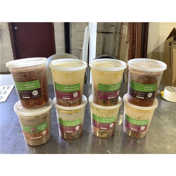 Frozen Orgali Assorted Soups (8 x 946mL)
