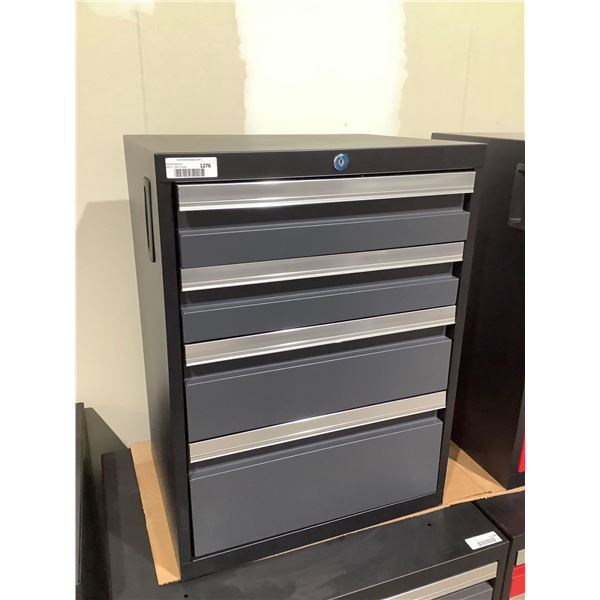 Metal Top Tool Box w/ Wheels In Grey - slight Visible Damage (21 3/4in x 16in x 28in)