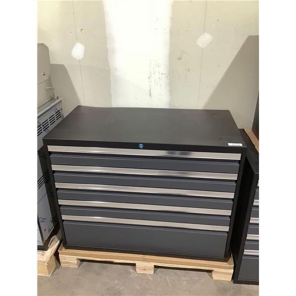 Metal Tool Box in Grey (42in x 22in x 32 1/2in)