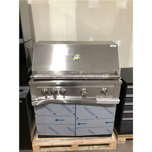 Stainless Steel Barbecue Insert  propane 33 inch with stainless cabinet