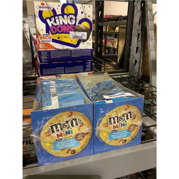 M&M Minis Vanilla Cookies (12 x 53g) Lot of 2