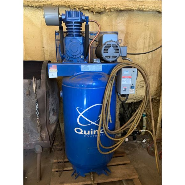 QUINCY AIR COMPRESSOR; 2-STAGE, 5HP, 80 GAL