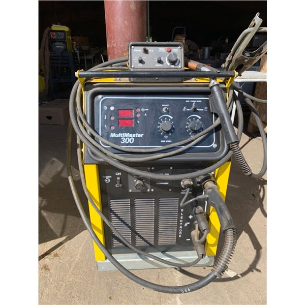 ESAB WELDER; MULTI MASTER 300, MIG/TIG/STICK WELDING PACKAGE; LEASED TANK FROM AIRGAS; SEE PICTURES