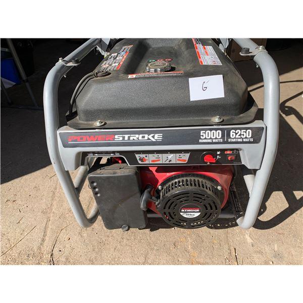 POWER STROKE 5000-WATT GENERATOR; WITH ROLLING CART