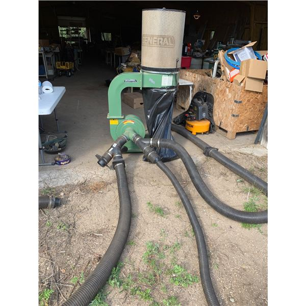GENERAL INTERNATIONAL DUST COLLECTION VACUUM; INCLUDES HOSE MANIFOLDS