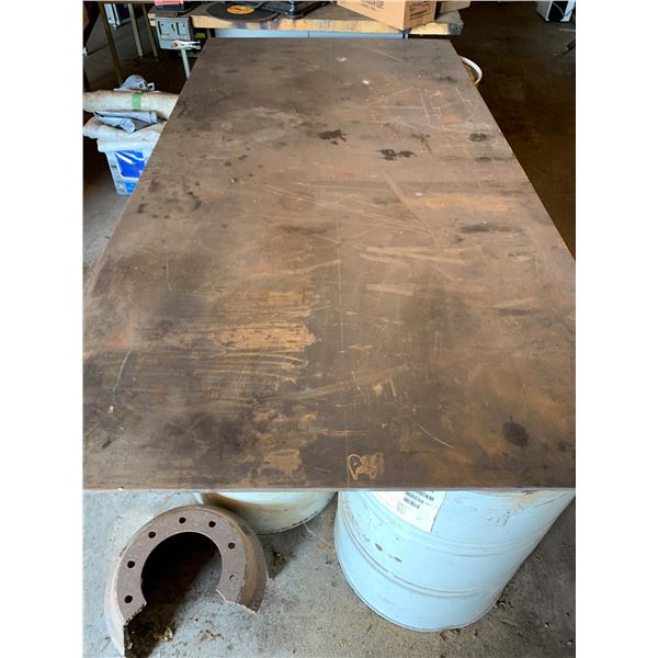 SHEET STEEL; MEASUREMENTS; 4 FT X 8 FT X 1/2 INCH THICK