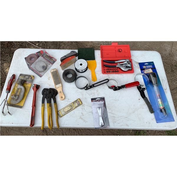 MISCELLANEOUS TOOLS; NAIL PULLER; HAND PUNCH SET; FILTER WRENCHES