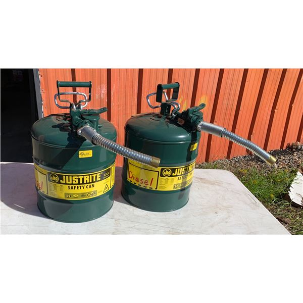 2-JUSTRITE SAFETY CANS, USED OR DIESEL