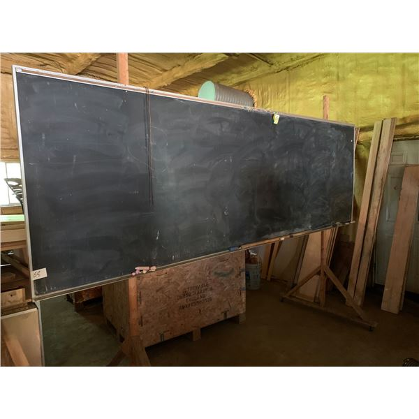 4 FT X 12 FT CHALK BOARD ON ROLLING STAND