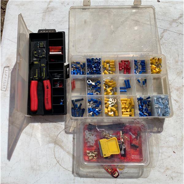 ELECTRICAL KIT; STRIPPER/CRIMPER; ASSORTED ELECTRICAL ENDS