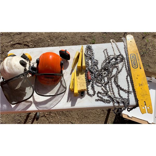 CHAINSAW WEDGES; SAFETY HELMETS; CHAINSAW BAR