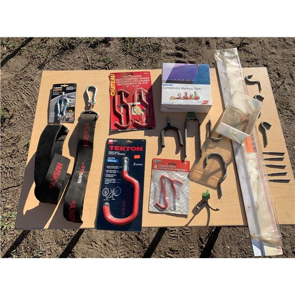UTILITY HOOKS AND MISCELLANEOUS ORGANIZING MATERIALS