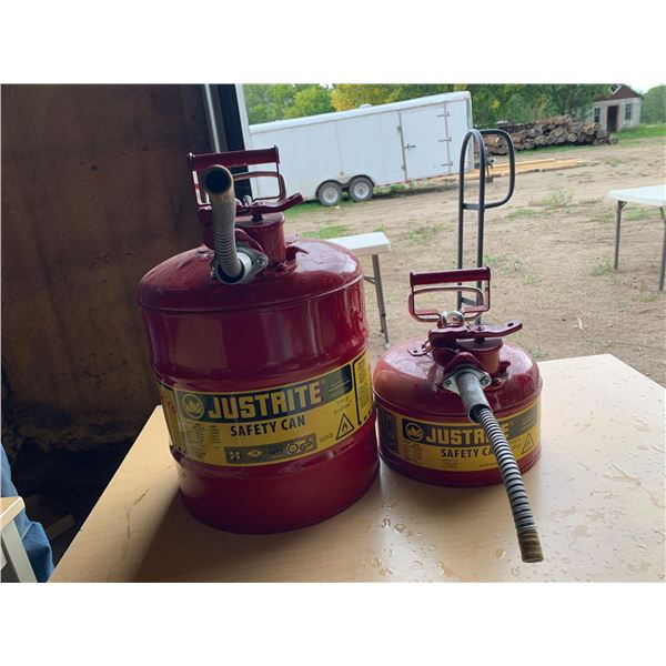 SAFETY CANS; 1-1GAL; 1-5GAL